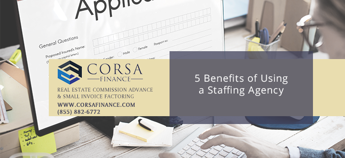 5 Benefits of Using a Staffing Agency to Improve Quality of New Hires