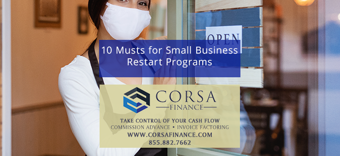 10 Musts for Small Business Restart Programs